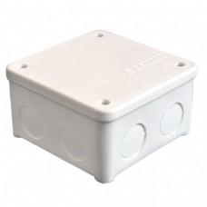 Коробка разветвительная ОП 7 выходов IP54 85х85х45 полипропилен крышка на винтах белый