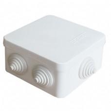 Коробка разветвительная ОП 7 выходов 3 гермоввода IP54 84х84х45 полипропилен белый