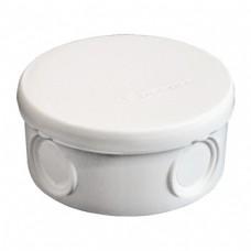 Коробка разветвительная ОП 4 выхода IP54 D=90х45 полипропилен белый  145151