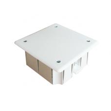 Коробка разветвительная СП 8 выходов 92х92х40 полипропилен крышка на винтах с пластиковыми лапками под гипсокартон белый