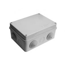 Коробка разветвительная ОП 10 выходов 6 гермовводов IP54 150х110х70 полипропилен крышка на винтах серый  210302