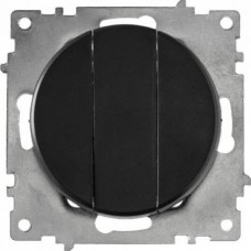Выключатель Флоренция 3СП б/п 10А IP20 механизм черный  1E31901303
