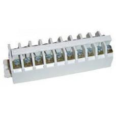 Блок зажимов БЗ 24-4П 25А (10 клемм) полиамид