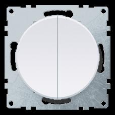 Выключатель Флоренция 2СП б/п 10А IP20 механизм белый  1E31501300