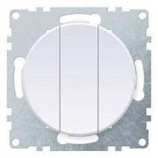 Выключатель Флоренция 3СП б/п 10А IP20 механизм белый  1E31901300