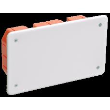 Коробка КМ41006 распаячная для тв.стен 172х96х45мм (с саморезами, с крышкой)