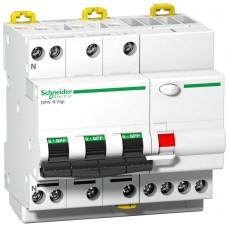 Дифф автомат 4П 25А хар-ка C 6кА 30мА AC DPN N VIGI Acti9 Schneider Electric  A9D31725