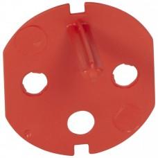 Ключ на вилку Мозаик для розетки с блокировкой красный  50299