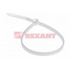 Хомут нейлон 4х300 белый (100шт/упак) REXANT