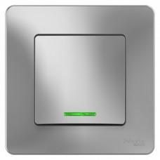 Выключатель Бланка 1СП с/п 10А IP20 в сборе алюминий