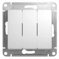 Выключатель Глосса 3СП б/п 10А IP20 механизм белый  GSL000131