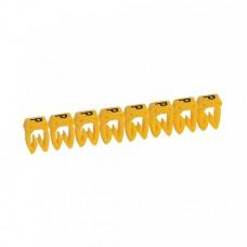 """Маркер кабельный 0,5-1,5мм символ """"P"""" CAB 3 (300шт/упак) Legrand"""