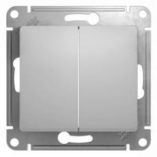 Выключатель Глосса 2СП б/п 10А IP20 механизм алюминий  GSL000351