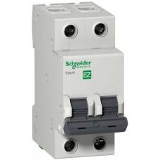 Автомат 2П 6A хар-ка C 4,5кА 230В -S- Easy9 Schneider Electric  EZ9F34206