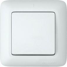 Выключатель Прима 1СП б/п 10А IP20 в сборе белый  VS1U-116-B