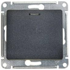 Выключатель Глосса 1СП с/п 10А IP20 механизм антрацит  GSL000713