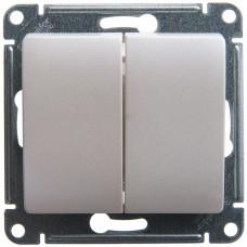 Выключатель Глосса 2СП б/п 10А IP20 механизм перламутр  GSL000651