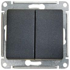 Выключатель Глосса 2СП б/п 10А IP20 механизм антрацит  GSL000751