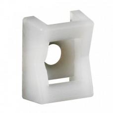 База монтажная для хомутов 9мм диаметр 5мм на винтах бесцветная Colring (100шт/упак) Legrand