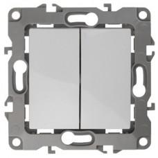 Выключатель Эра12 2СП б/п 10А IP20 механизм 12-1104-01 белый  Б0014645