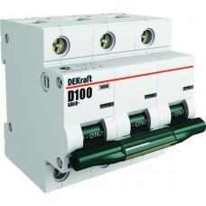 Автомат 3П 100А хар-ка D 10кА ВА-201 DEKraft Schneider Electric  13021DEK