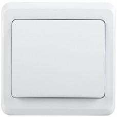 Выключатель Вега 1СП б/п 10А IP20 в сборе ВС10-1-0-ВБ белый  EVV10-K01-10-DM