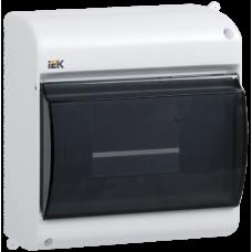 Корпус пластиковый КМПн 2/6 IP31 для 6 модульных автоматов наружной установки с прозрачной крышкой IEK