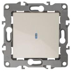 Выключатель Эра12 1СП с/п 10А IP20 механизм 12-1102-02 слоновая кость  Б0014634