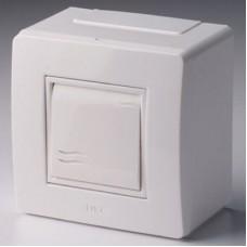 Коробка в сборе 1ОП 1 клав выключатель белый DKC  10002