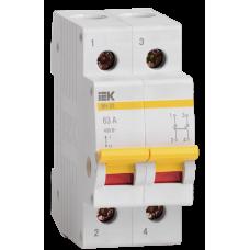 Выключатель нагрузки ВН-32 2П 63А ИЭК  MNV10-2-063