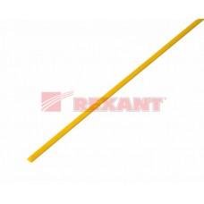 Трубка термоусадочная ТУТ 3/1,5 желтая 1м Рексант
