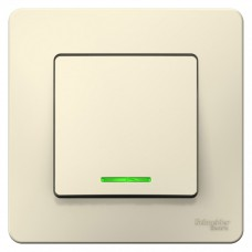 Выключатель Бланка 1СП с/п 10А IP20 в сборе молочный