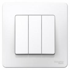Выключатель Бланка 3СП б/п 10А IP20 в сборе белый