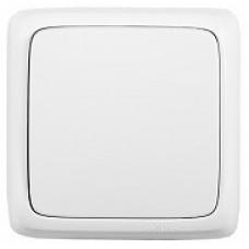 Переключатель Альфа 1ОП б/п 10А IP20 в сборе изол пластина белый