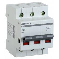 Выключатель нагрузки ВН-32 3П 25А Generica ИЭК  MNV15-3-025