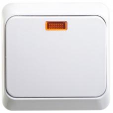 Выключатель Этюд 1ОП с/п 10А IP20 в сборе белый  BA10-005B