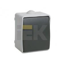 Выключатель Форс 1ОП б/п 10А IP54 в сборе ВС20-1-0-ФСр серо-черный