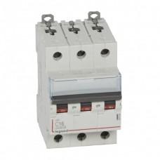 Автомат 3П 16А хар-ка C 6кА/10кА DX3 Legrand  407859