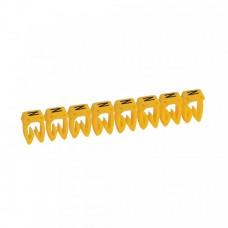 """Маркер кабельный 1,5-2,5мм символ """"N"""" CAB 3 (300шт/упак) Legrand"""