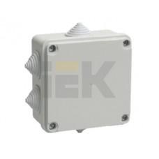 Коробка КМ41233 распаячная для о/п 100х100х50мм IP44 (RAL7035, 6 гермовводов)