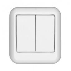 Выключатель Прима 2ОП б/п 6А IP20 в сборе белый