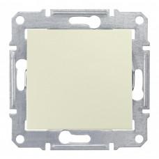 Выключатель Седна 1СП б/п 10А IP20 механизм бежевый  SDN0100147