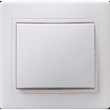 Выключатель Кварта 1СП б/п 10А IP20 в сборе ВС10-1-0-КБ белый  EVK10-K01-10-DM