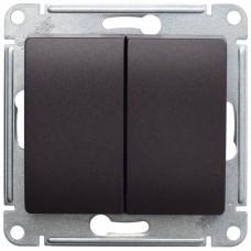 Выключатель Глосса 2СП б/п 10А IP20 механизм шоколад  GSL000851