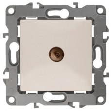 Розетка Эра12 ТВ 1СП оконечная механизм 12-3101-02 слоновая кость  Б0014706