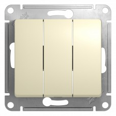 Выключатель Глосса 3СП б/п 10А IP20 механизм бежевый  GSL000231