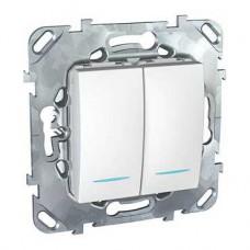 Выключатель Уника 2СП с/п 10А IP20 механизм белый  MGU5.0101.18NZD