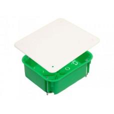 Коробка разветвительная 126х106х50 IP30 16 вводов, прямоугольная с крышкой, металл. лапки (81шт/кор)