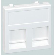 Адаптер Симон Connect 2RJ45 коннектора К45 с/шт белый