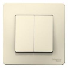 Выключатель Бланка 2СП б/п 10А IP20 в сборе молочный